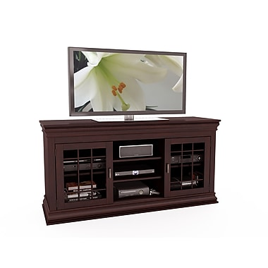 Sonax® Carson 60in. Wood/Veneer TV/Component Bench, Dark Wood, Espresso