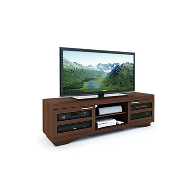 Sonax® Granville 66in. Wood/Veneer TV Bench, Warm Cinnamon