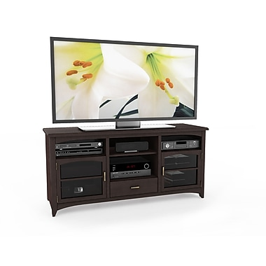 Sonax® West Lake 60in. Wood/Veneer TV/Component Bench, Dark Espresso