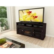 """Sonax® 16.25"""" x 18"""" x 9"""" Glass Electric Fireplace, Black"""
