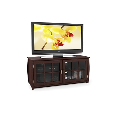 Sonax® Washington 48in. Laminate/Melamine TV/Component Bench, Dark Wood, Espresso