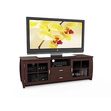 Sonax® Washington 59in. Wood/Veneer TV/Component Bench, Dark Wood, Espresso