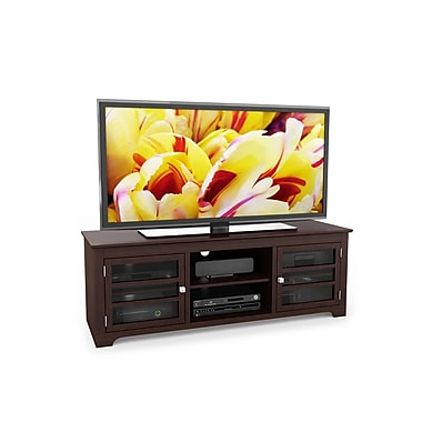 Sonax® West Lake 60in. Wood/Veneer TV/Component Bench, Dark Wood, Espresso
