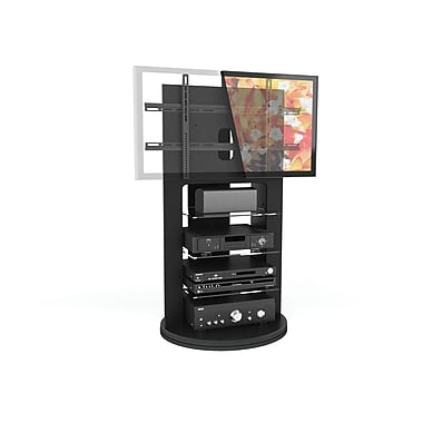 Sonax® Zurich 26.75in. TV Stand with Swivel Base, Midnight Black lacquer