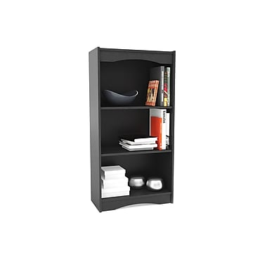 Sonax® Hawthorn 48in. Wood Bookcase, Midnight Black