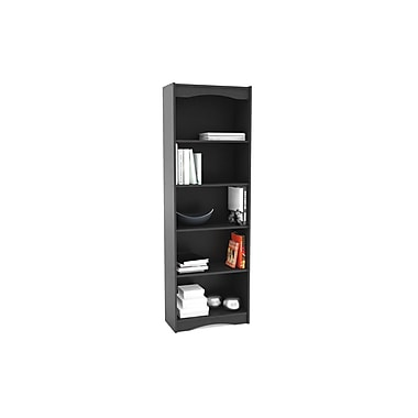 Sonax® Hawthorn 72in. Wood Bookcase, Midnight Black