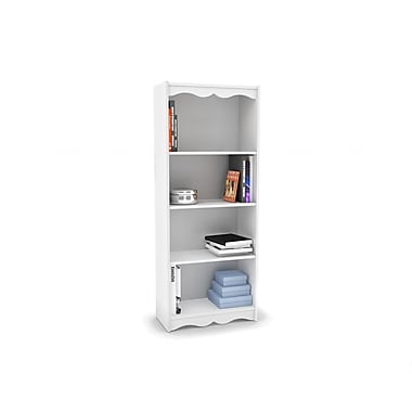 Sonax® Hawthorn 60in. Wood Bookcase, Frost White
