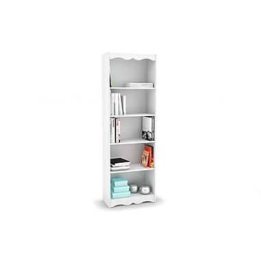 Sonax® Hawthorn 72in. Wood Bookcase, Frost White