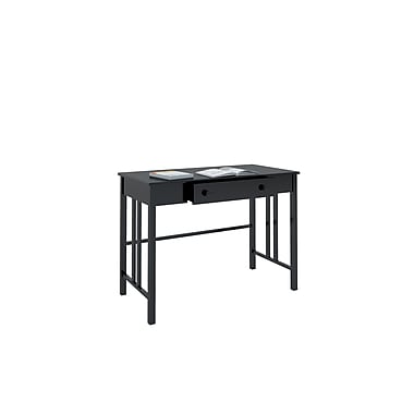 CorLiving™ Plateau Wood Workspace Desk with Drawers, Black