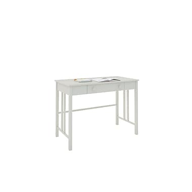 CorLiving™ Plateau Wood Workspace Desk with Drawers, White