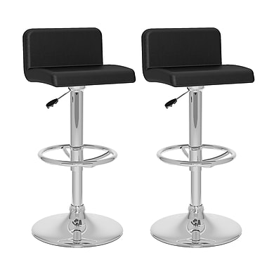 CorLiving™ Leatherette Low Back Adjustable Bar Stools