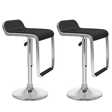 CorLiving™ Leatherette Adjustable Bar Stools with Footrest