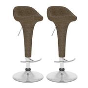 CorLiving™ Vinyl Adjustable Bar Stool, Varicolored Brown