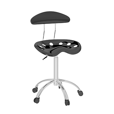 CorLiving™  Metal Form Fitting Office Chair, Black