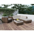 Sonax® Park Terrace Resin Rattan Wicker 6 Piece Sectional Patio Set, Coral Sand