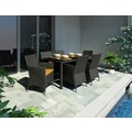 Sonax® Park Terrace UV Resistant Resin Wicker Patio Dining Set, River Rock Black