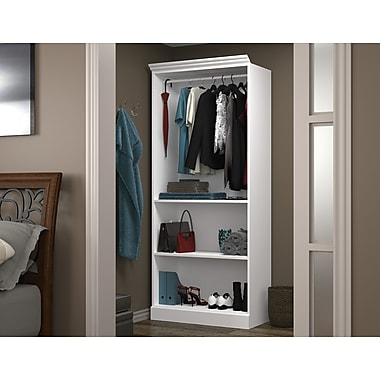 Bestar 36in. Closet Storage Shell, White