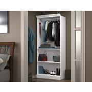 "Bestar 36"" Closet Storage Shell, White"
