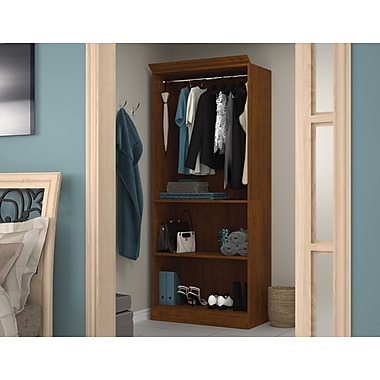 Bestar 36in. Closet Storage Shell, Tuscany Brown