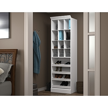 Bestar Cubby Storage Unit, White