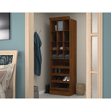 Bestar Cubby Storage Unit, Tuscany Brown