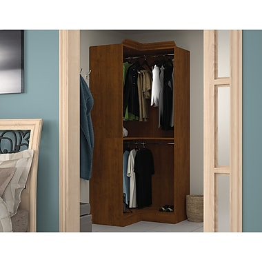 Bestar Corner Storage Unit, Tuscany Brown