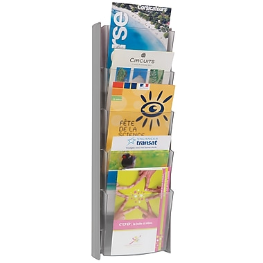 Alba 5 Pocket A5 Wall Document Display, Gray
