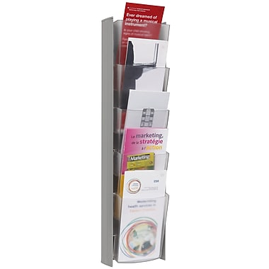 Alba 5 Pocket A4 Wall Document Display, Gray