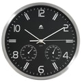Alba HORMET Practical 11.8in. Weather Quartz Wall Clock, Silver