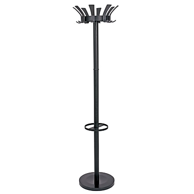Alba Traditional Floor Coat Stand, Black