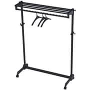 Alba Modern One-Sided Mobile Garment Rack, Black