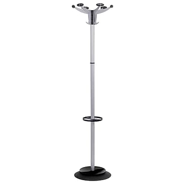 Alba Fashionable Floor Coat Stand, Silver Gray/Black