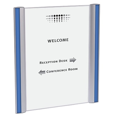 Alba A4 Document Holder for Walls and Doors , Silver