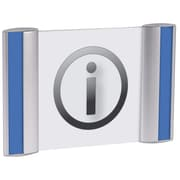 "Alba Metal Pictogram Sign Holder for Wall/Door, 5.63"" x 7.68"""