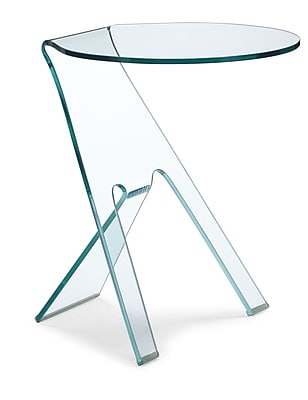 """""Zuo 19 1/2"""""""" x 19 1/2"""""""" Tempered Glass Journey Side Table, Clear"""""" 223325"