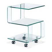 Zuo® 15 1/2 x 15 1/2 Tempered Glass Magellan Side Table, Clear