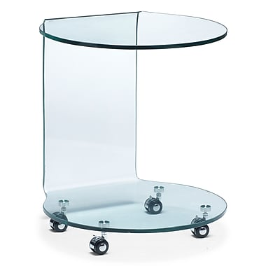 Zuo® 18 1/2in. x 19 1/2in. Tempered Glass Mission Side Table, Clear