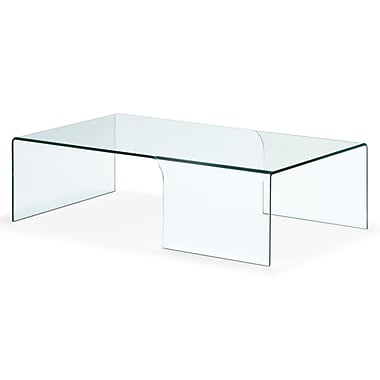 Zuo® 51 1/2in. x 27 1/2in. Tempered Glass Sabbatical Coffee Table, Clear