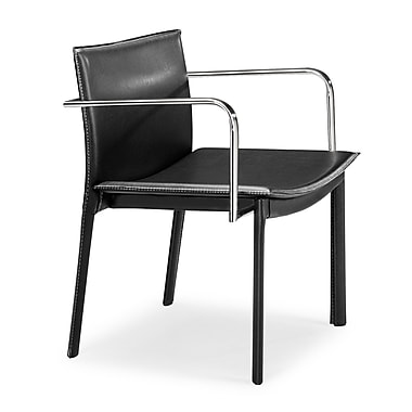 Zuo® Leatherette Gekko Conference Chairs, Black, 2/Pack