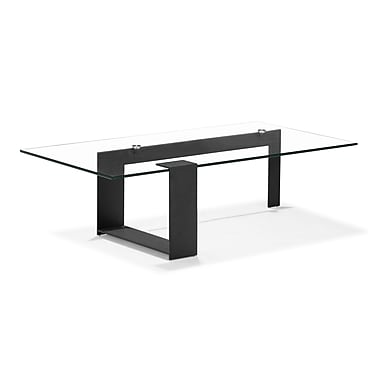 Zuo® 51in. x 27 1/2in. Painted Tempered Glass Zeon Coffee Table, Black