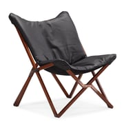 Zuo® Draper Leatherette Lounge Chair, Black