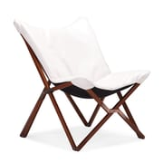 Zuo® Draper Leatherette Lounge Chair, White
