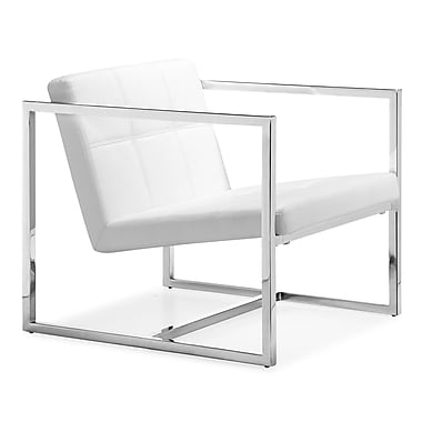 Zuo® Leatherette Carbon Chair, White