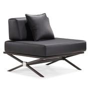 Zuo® Xert Modular Leatherette Chair, Black