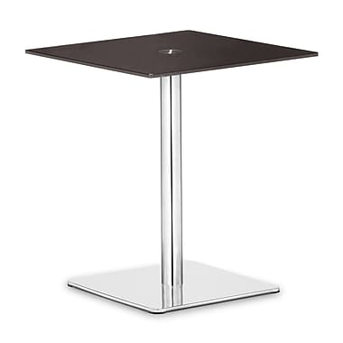 Zuo® Dimensional 19 1/2in. x 19 1/2in. Painted Tempered Glass Pub Table, Espresso