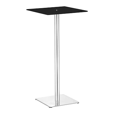Zuo® Dimensional 19 1/2in. x 19 1/2in. Painted Tempered Glass Bar Table, Black