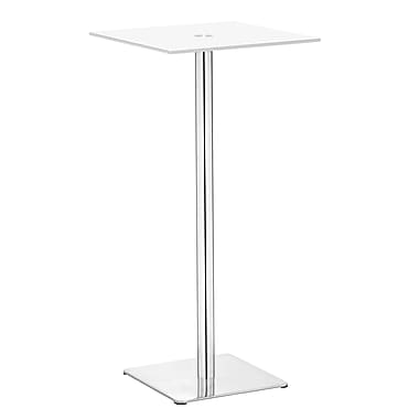 Zuo® Dimensional 19 1/2in. x 19 1/2in. Painted Tempered Glass Bar Table, White