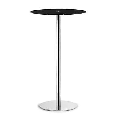 Zuo® Cyclone 23 1/2in. Painted Tempered Glass Bar Table, Black
