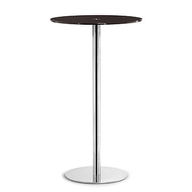 Zuo® Cyclone 23 1/2in. Painted Tempered Glass Bar Table, Espresso