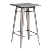 "Zuo® Olympia 23.8"" x 23.8"" Steel Bar Table, Gunmetal"